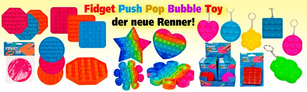 Fidget Pop Push Bubble Toy