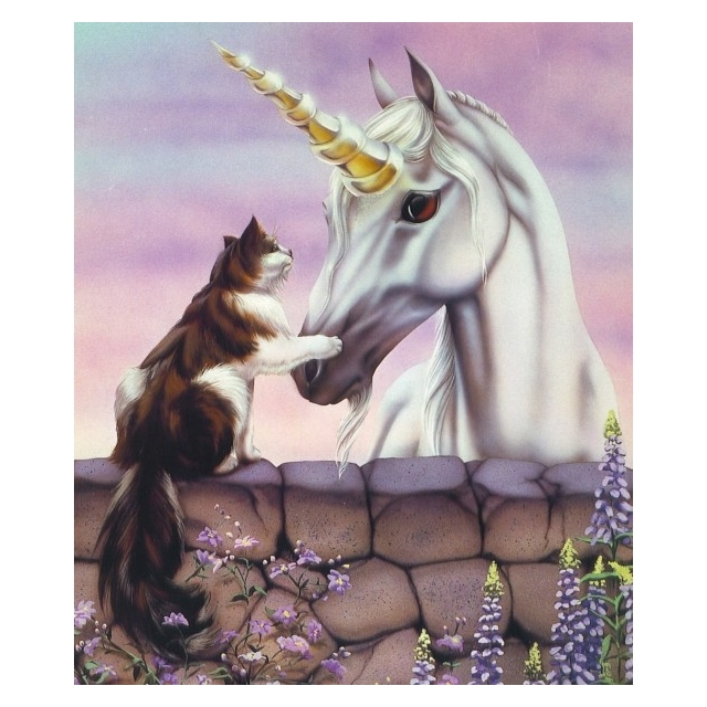 Diamond Painting Cat-Unicorn  50 x 40cm