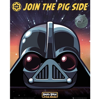 Angry Birds Vader Starwars MiniPoster