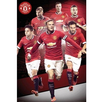 Manchester United Players 14/15 Poster