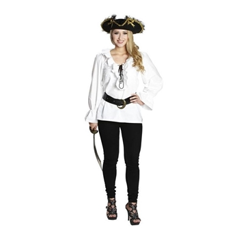Piratenbluse weiss