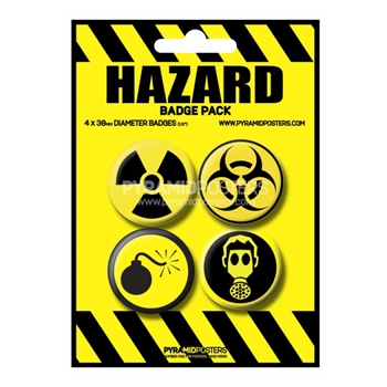 (053) HAZARD BADGE PACK 4