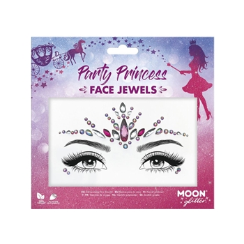 Moon Glitter Face Jewels, Party Princess
