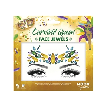Moon Glitter Face Jewels, Carnival Queen